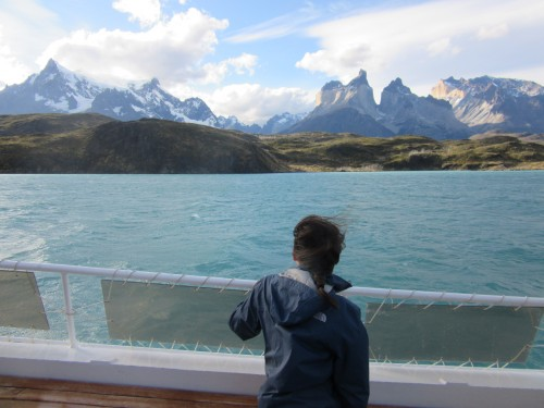 Plaited hair on the last day in Torres del Paine.. you can imagine why