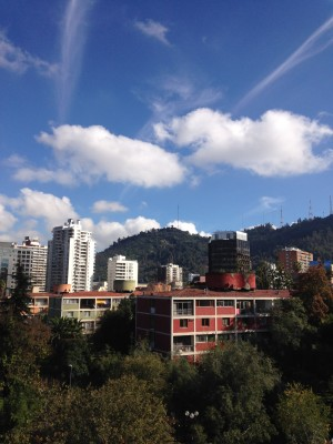Last photo I took in Santiago of the view from my room.